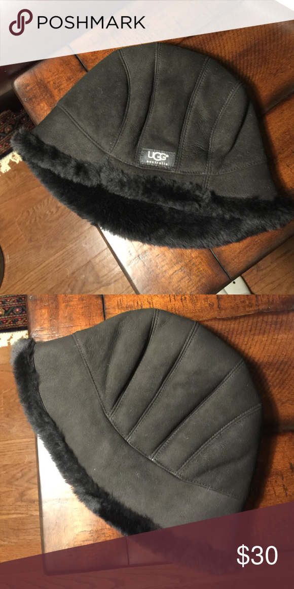 UGG Australia black shearling bucket hat Adorable black shearling lined bucket  hat. Gently used in great condition! One size. UGG Accessories Hats 532ac1186f2