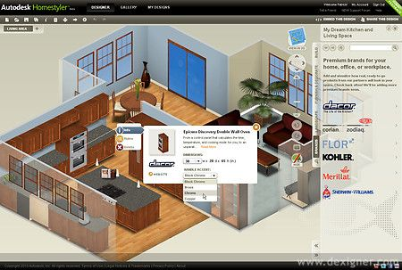 Autodesk Homestyler Helps You Plan Out A Living Space In 3D  My Best Design My Kitchen Free Online Inspiration