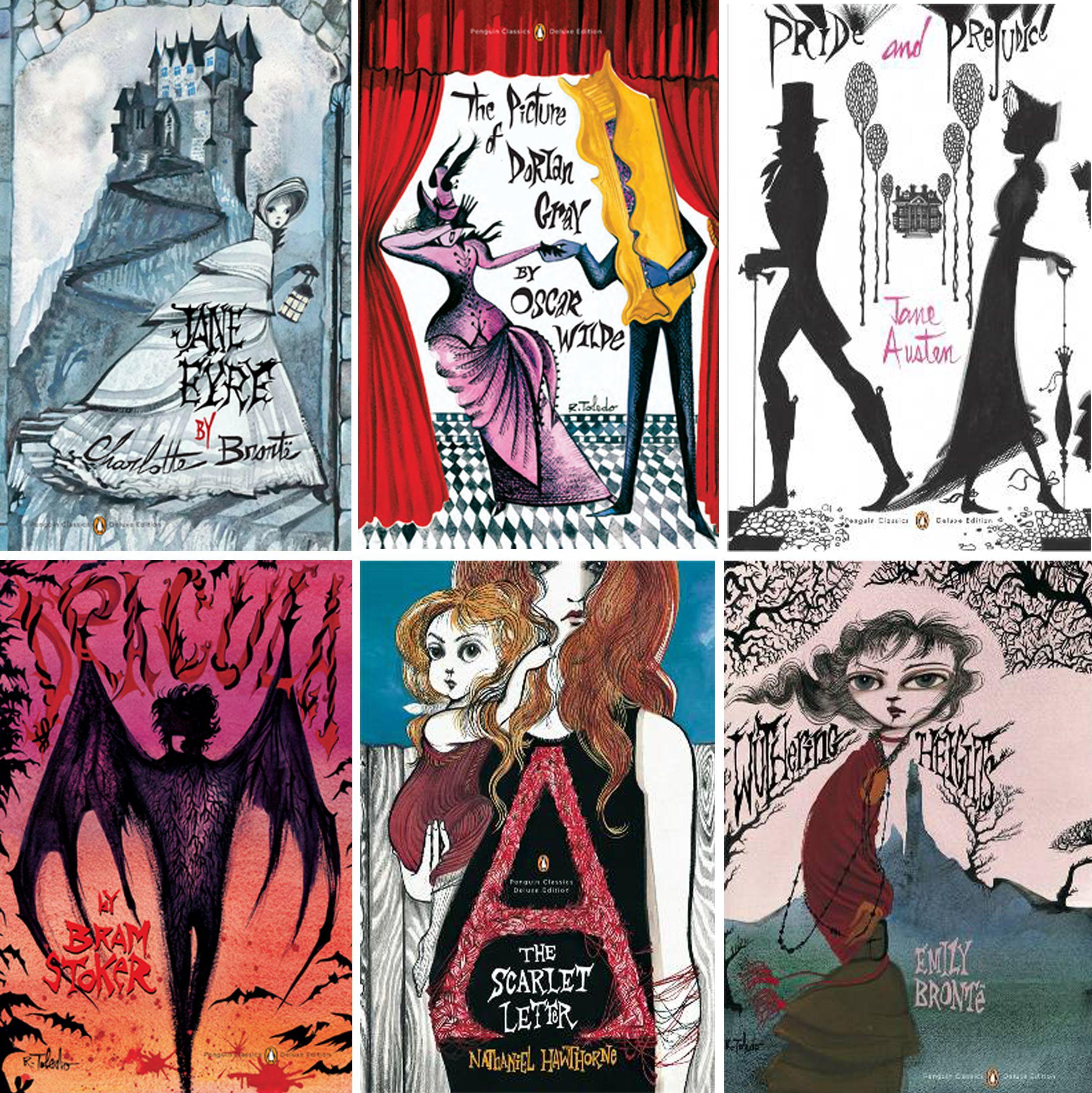 Classic Book Cover Art : Penguin classics ruben toledo book covers beautiful art