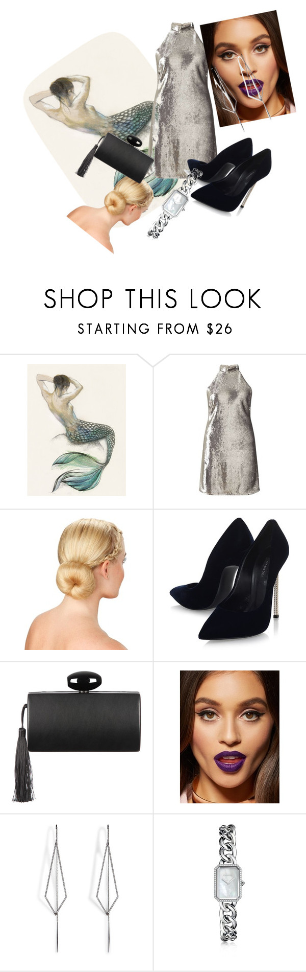 """Untitled #82"" by fadilabanjic on Polyvore featuring Miss Selfridge, Casadei, Diane Kordas and Chanel"