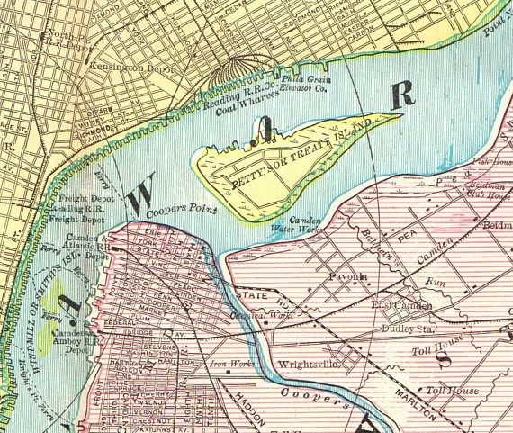 Antique PHILADELPHIA Original Map of Philadelplhia Print 1899 | MAP ...