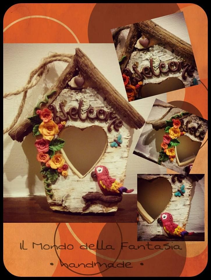Welcome casetta fuoriporta in legno e fimo handmade for Decora la tua casa