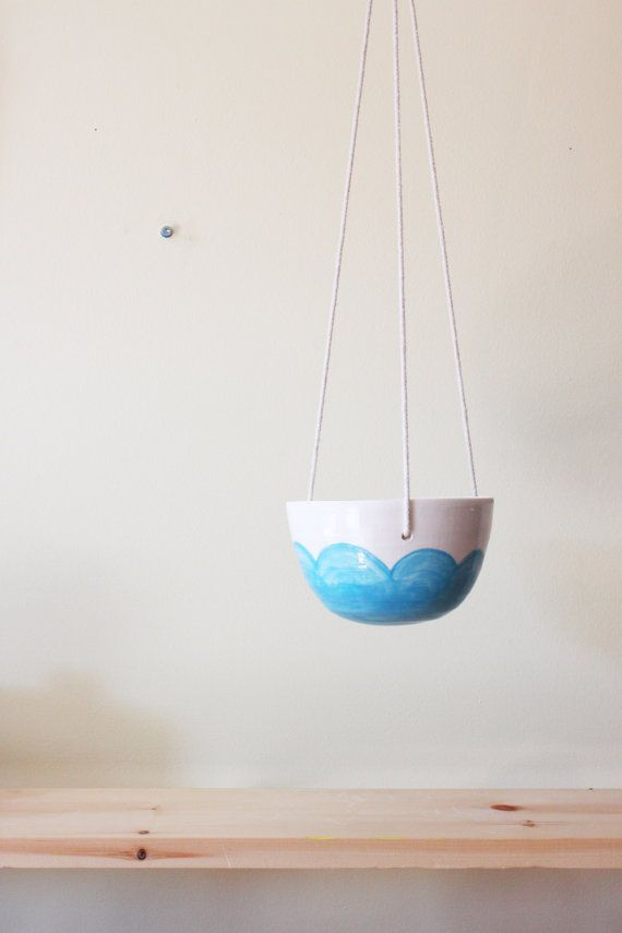 Hey, I found this really awesome Etsy listing at https://www.etsy.com/listing/202920026/blue-cloud-hanging-planter