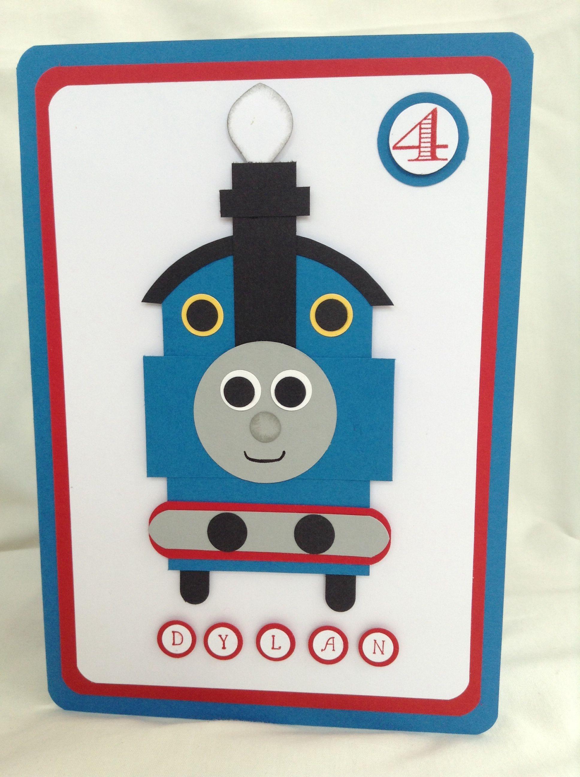 My Version Of Thomas The Tank Engine Kids Birthday Cards Boy Cards Birthday Cards For Boys
