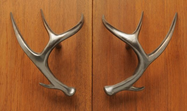 deer antler rustic cabin door pulls cast bronze custom 87946