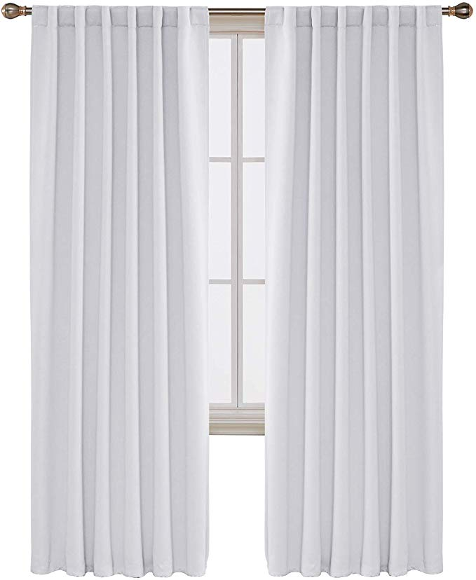 Deconovo Back Tab Curtains Rod Pocket Curtains Thermal Insulated