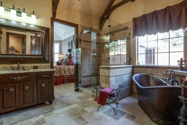 Old World Master Bathroom DFW Improved Frisco TX - Bathroom remodel frisco tx