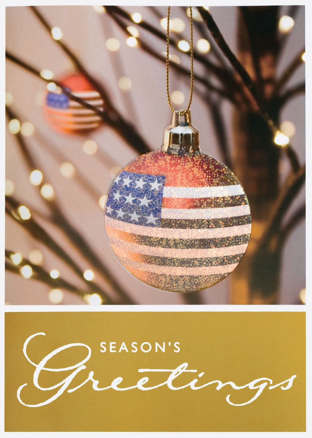 Star Spangled Ornament Holiday Greeting Cards The Glitter Effect
