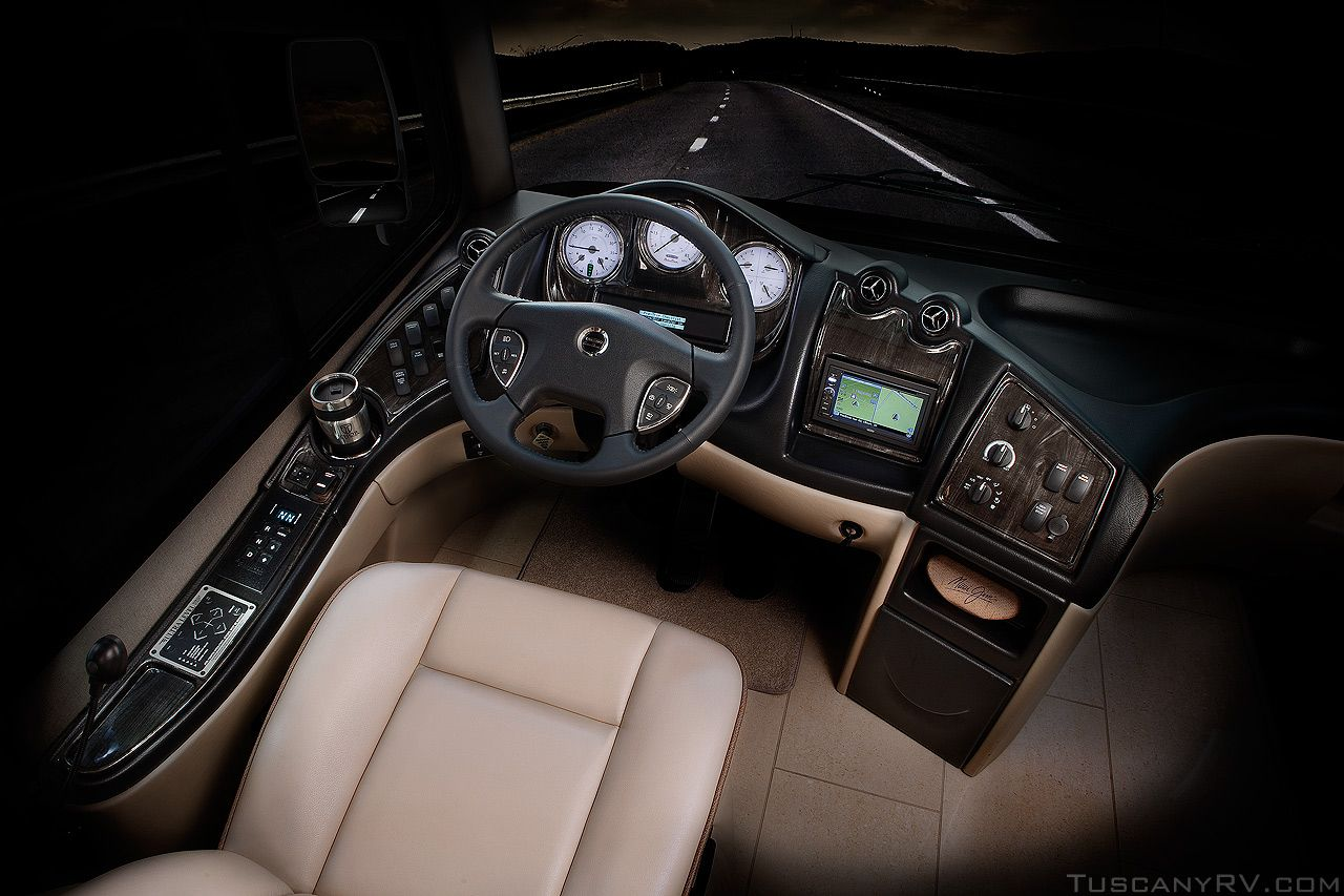 Luxury rv exterior - Luxury Rv Rear Diesel Cockpit Dash Tag Axle