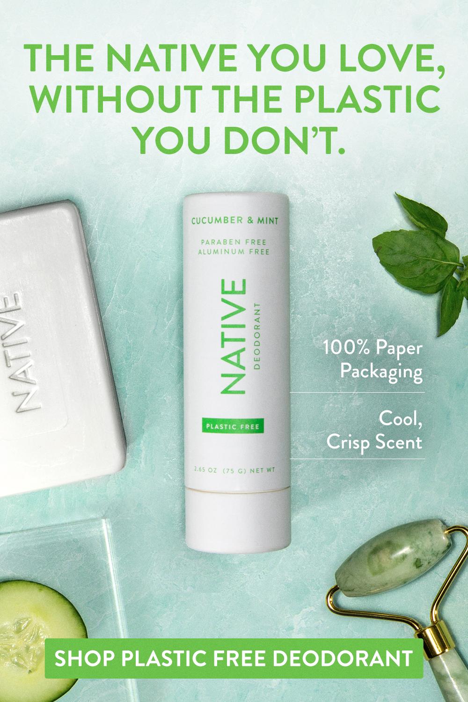 Plastic Free Cucumber & Mint Deodorant Native in 2020
