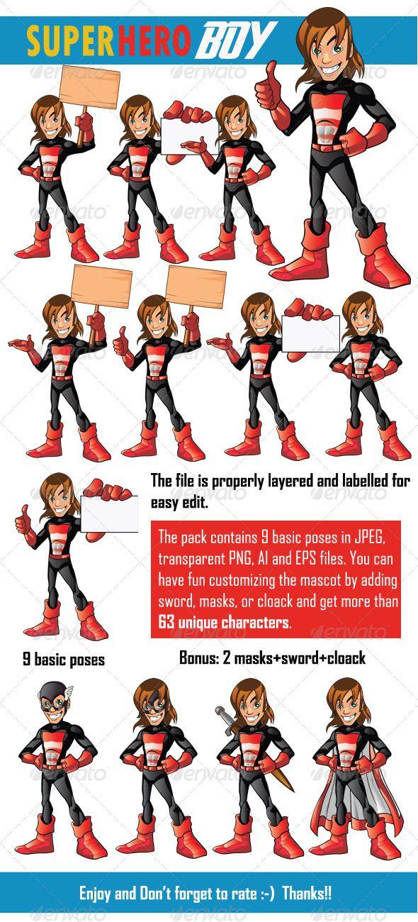 Super Hero Boy | Hero, Business cards and Mascot design