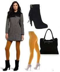 Image result for mustard tights outfit