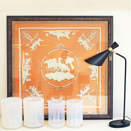lamp framed hermes scarf