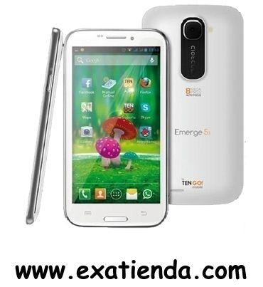 """Ya disponible Smarphone tengo! emerge 5.3"""" rt3033bt    (por sólo 212.95 € IVA incluído):   - Sistema operativo instalado:Android 4.2.1 (Jelly Bean) - Capacidad de almacenamiento interno: 4 GB - RAM interno:1GB - Tamaño máximo de tarjeta de memoria: 64 GB - Procesador: ARM Cortex-A7Quad-core 1.2 GHz - Camara principal:8 Megapixels (Flash integrado) - Camara segundaria:3.1 Megapixels - Pantalla:134.6 mm (5.3 """") Multi-Touch - Resolución de la pantalla: 540 x 960 Pixeles"""