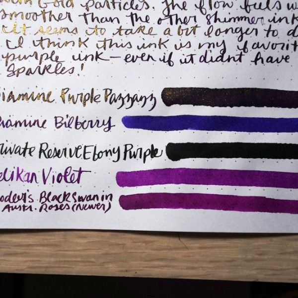 Hello again friends! More visual reviews of 2 more Diamine Shimmertastic Inks! Diamine has released 10(!) new inks with shimmer! I'm a shimmery ink fan, so I'm excited for these. I unde…