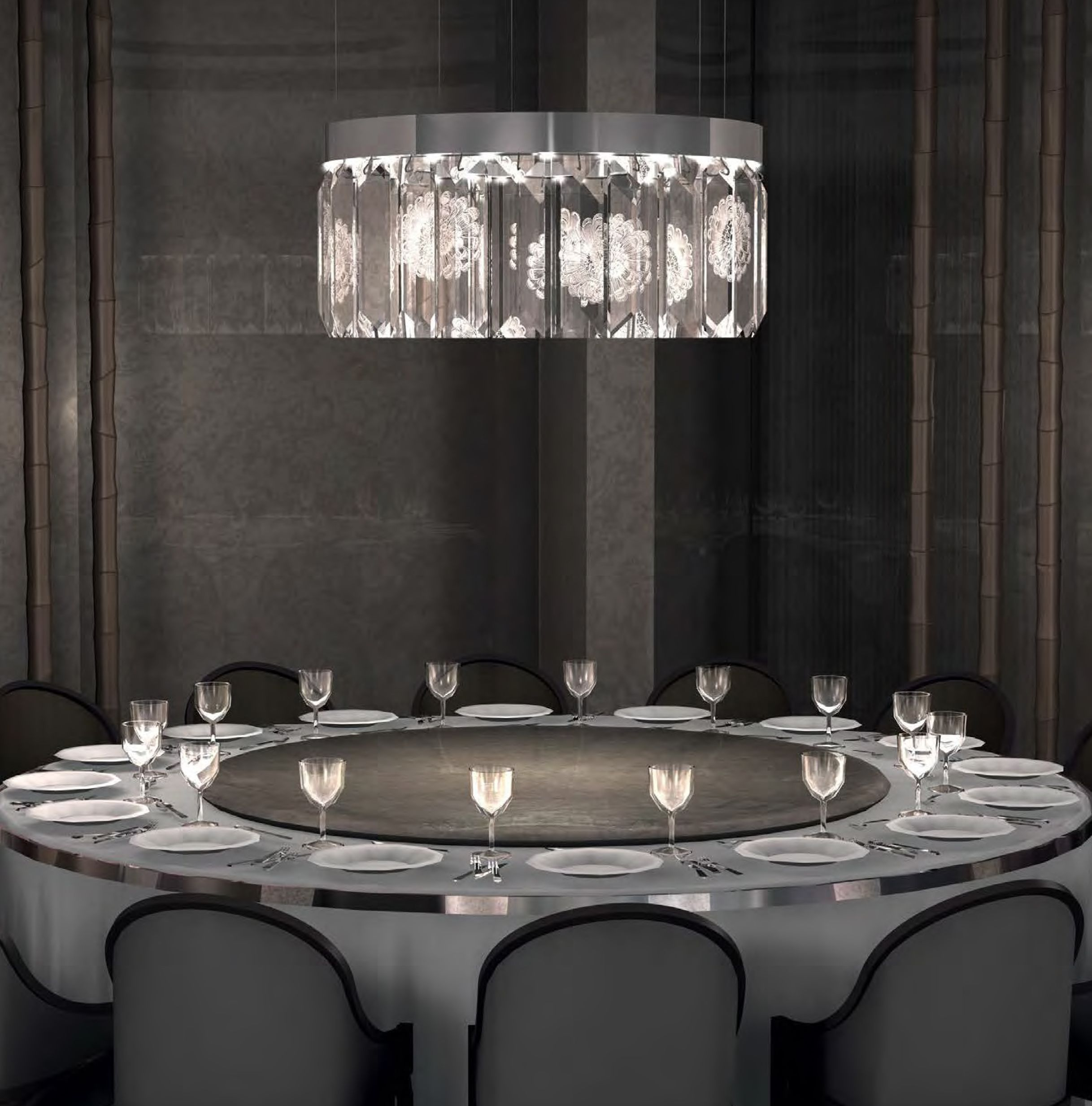 Windfall chandeliers with lalique the serene the serene windfall chandeliers with lalique the serene collection arubaitofo Choice Image
