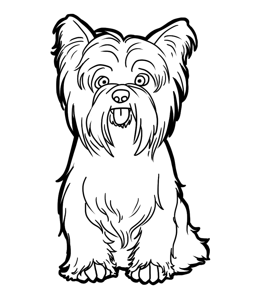 This Is A Free Coloring Page You Do Not Need To Ask Me To Use This Just Help Yourself But Before You Do Puppy Coloring Pages Dog Coloring Page Yorkie Dogs