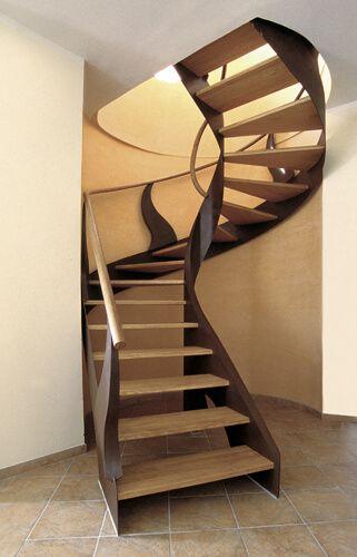 Scala per interni legno e ferro battuto interior stairs for Scale per librerie in legno