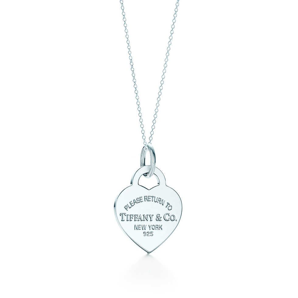 57a813494 Return to Tiffany™ heart tag charm in sterling silver on a chain. | Tiffany  & Co.