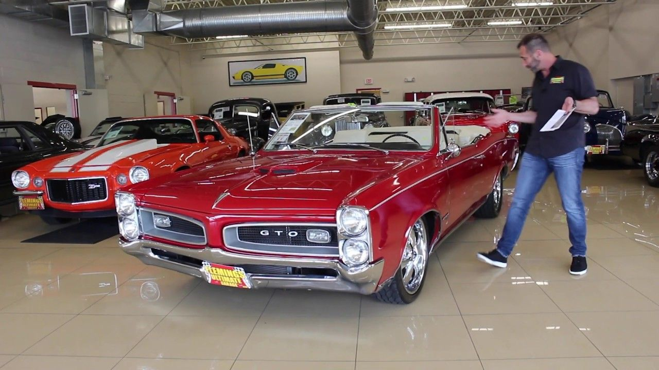 1966 Pontiac Gto Convertible Pro Touring For Sale With Driving Sounds A Pontiac Gto Pontiac Gto