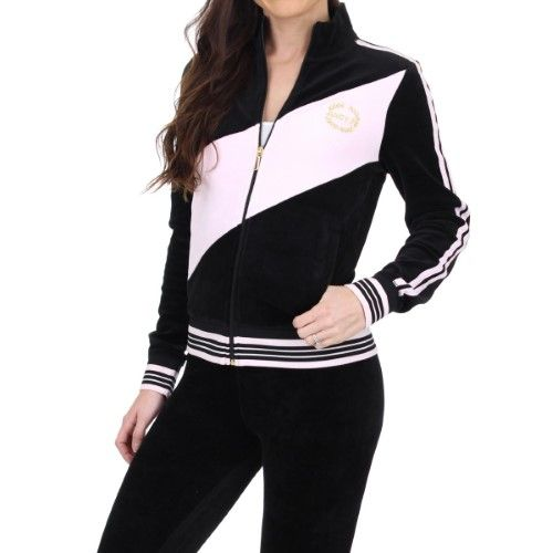 Juicy Couture Black Label Womens Sporty Heritage Velour