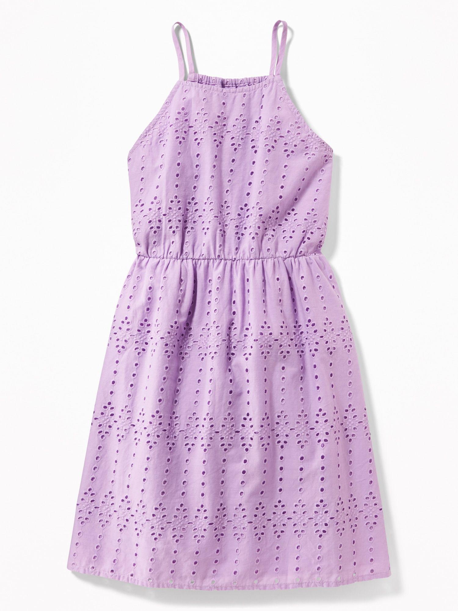 High Neck Eyelet Cami Dress For Girls Old Navy Girl
