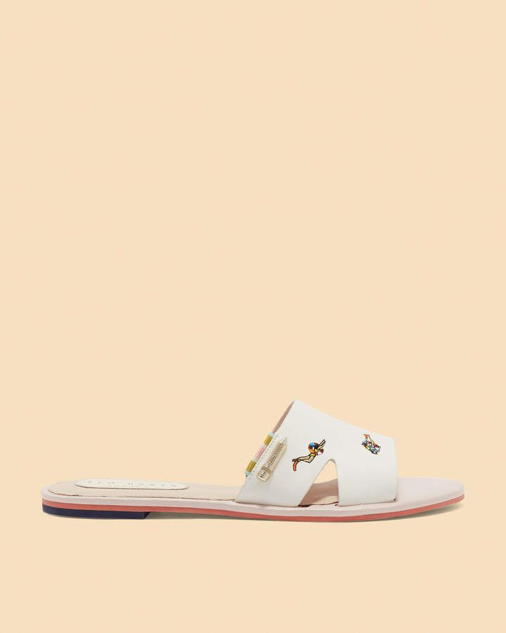 788159fcd MAIRIN Swimmers embroidered sliders. MAIRIN Swimmers embroidered sliders  Peep Toe Shoes