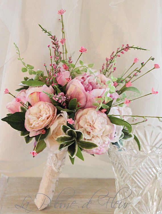Elise Wedding bouquet cute cottage style posy by LaPlumeDeFleur ...