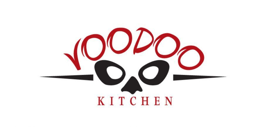 Voodoo kitchen food truck orlando fl logo design for Kitchen decoration logo