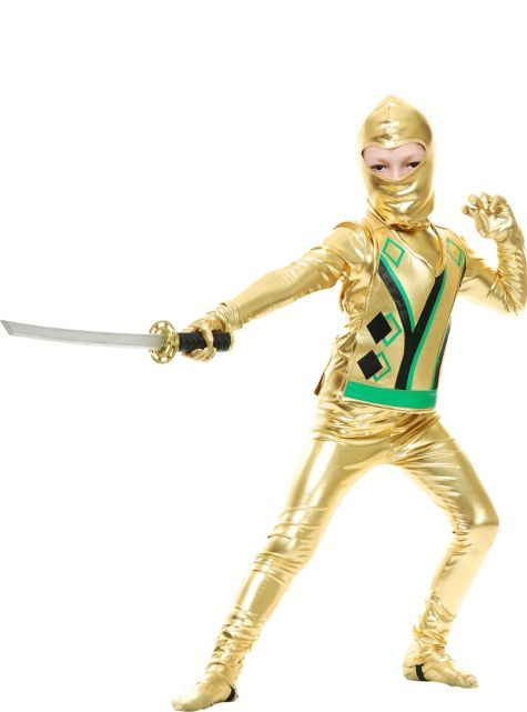 Boys Gold Ninja Avenger Costume , Party City