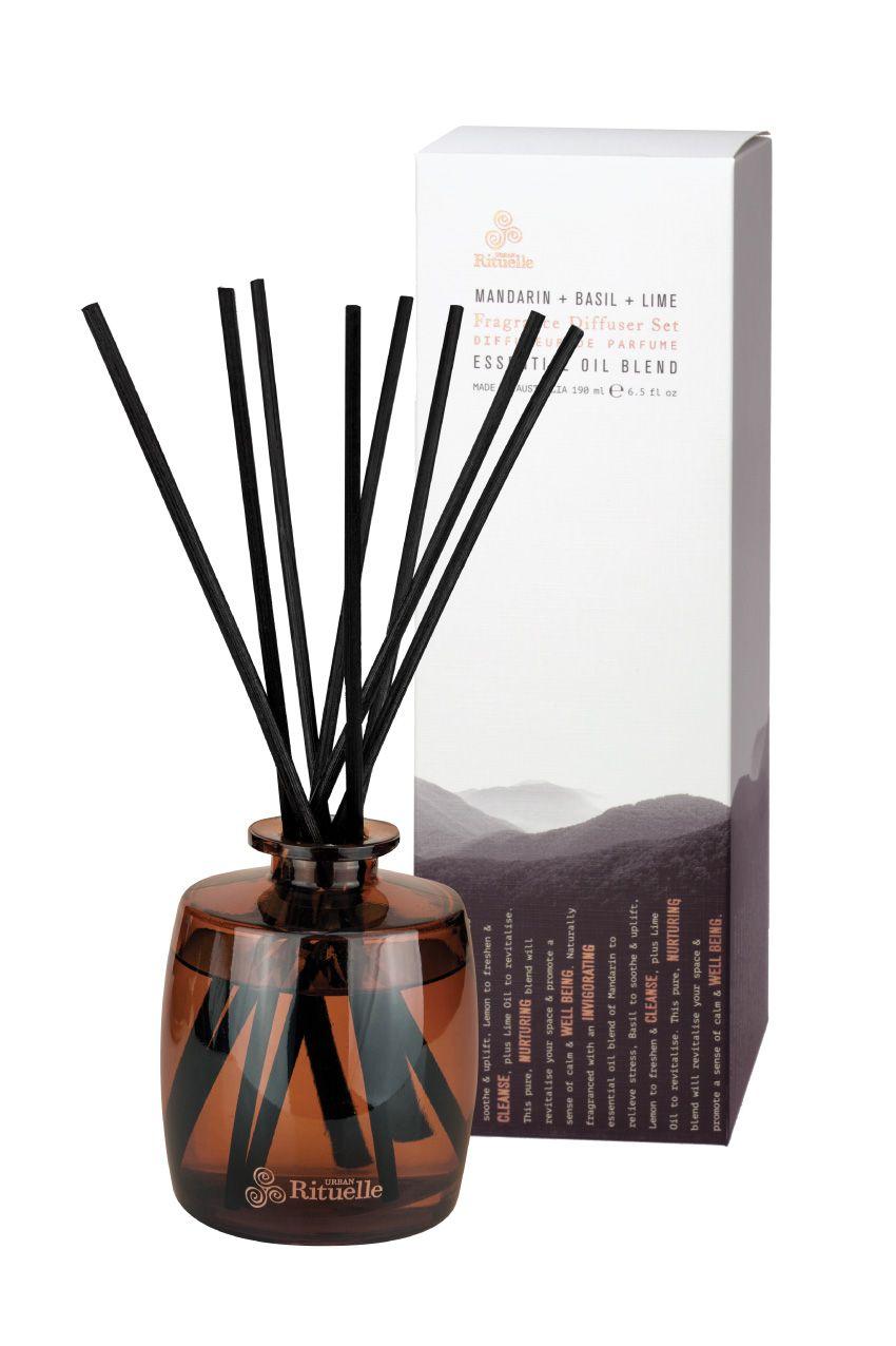 Equilibrium fragrance diffuser set mandarin basil