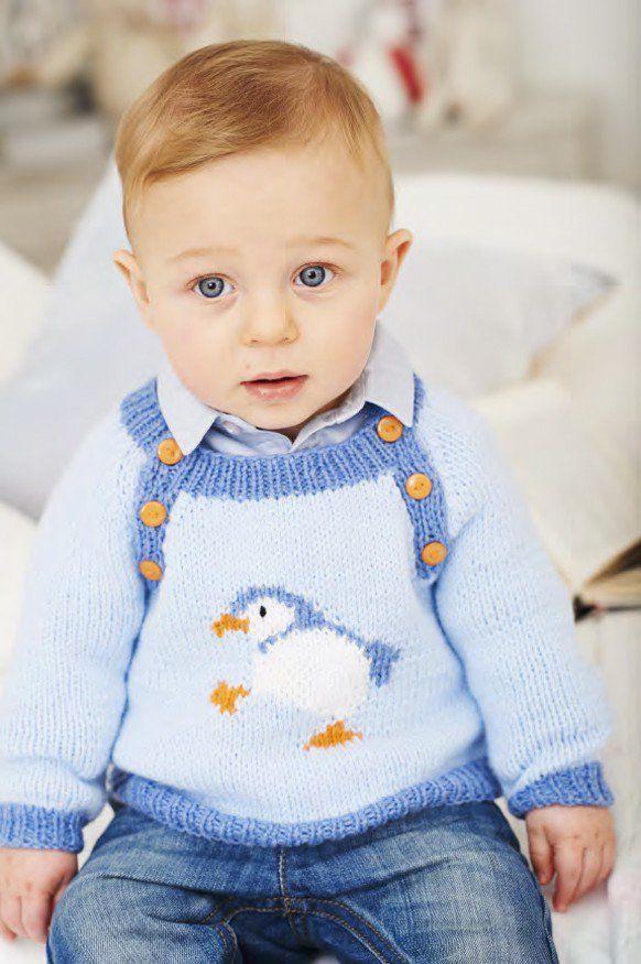 Penguin Sweaters in Deramores Baby DK (1024) - Digital Version ...