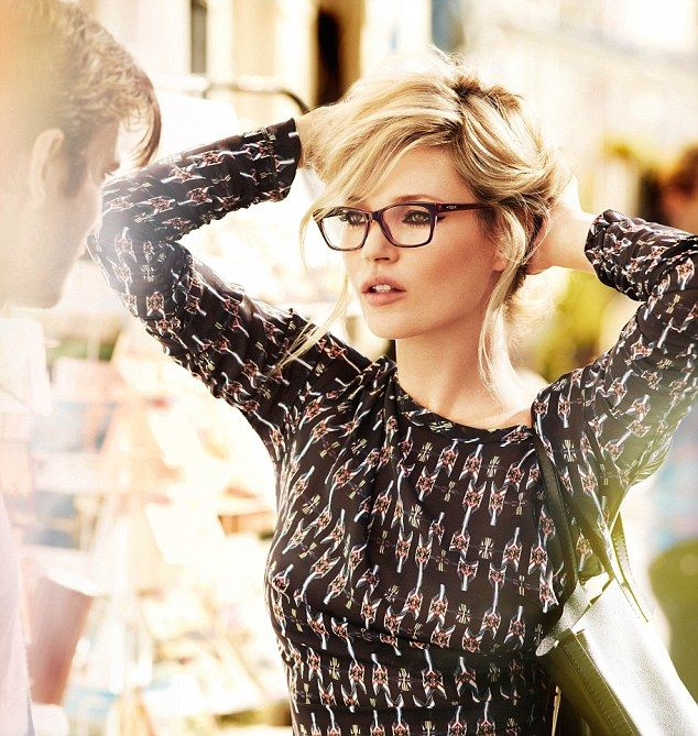She's in Vogue! Kate Moss has specs appeal in new eyewear campaign