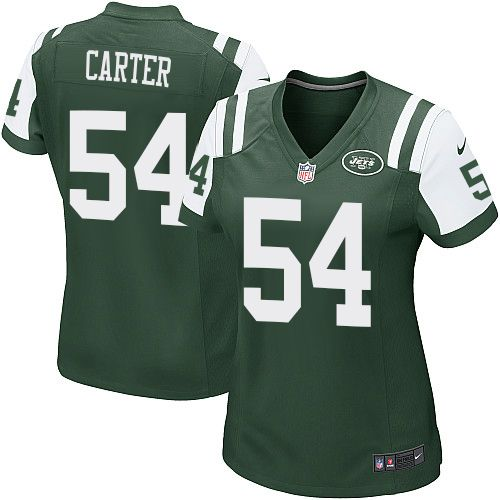 womens nike new york jets 54 bruce carter game green team color nfl jersey
