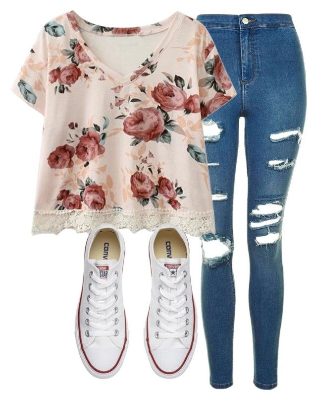 First Day By Haileyhoksbergen On Polyvore Featuring Topshop And Converse Middle School OutfitsConverse OutfitsCochellaTeen FashionCute