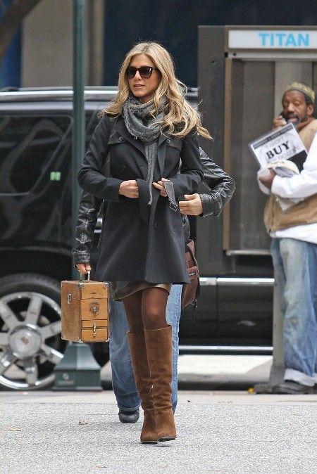 Vestidos Jennifer De Los Faldas Looks Aniston Rodaje Y XFXqHwB