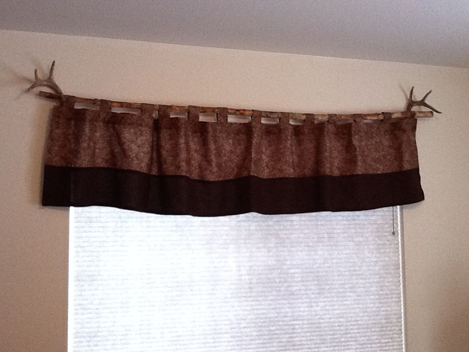 Antler Curtain Rod Holders And A Branch As A Curtain Rod Home Decor Pergola Curtains Home