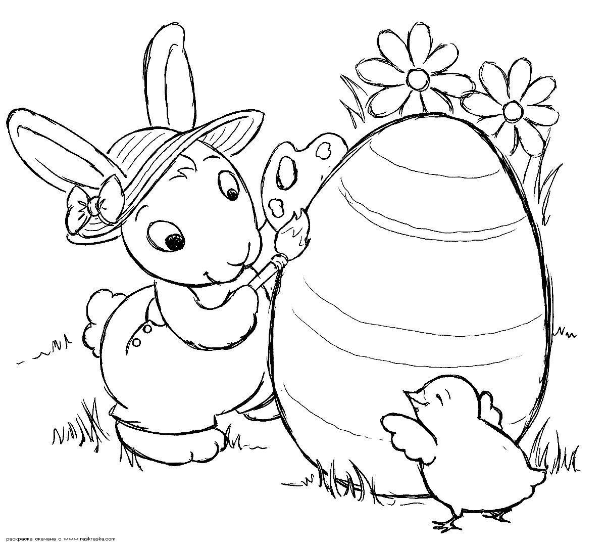 ПАСХАЛЬНЫЕ РАСКРАСКИ | Bunny coloring pages, Easter bunny ...