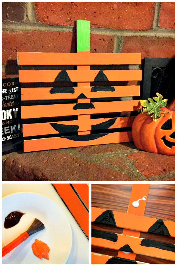 DIY Pumpkin Craft using Wood Slats | Wood slats, Diy pumpkin and ...