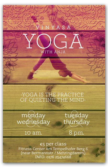 Flyers On Behance  Yoga Flyer    Behance Yoga And