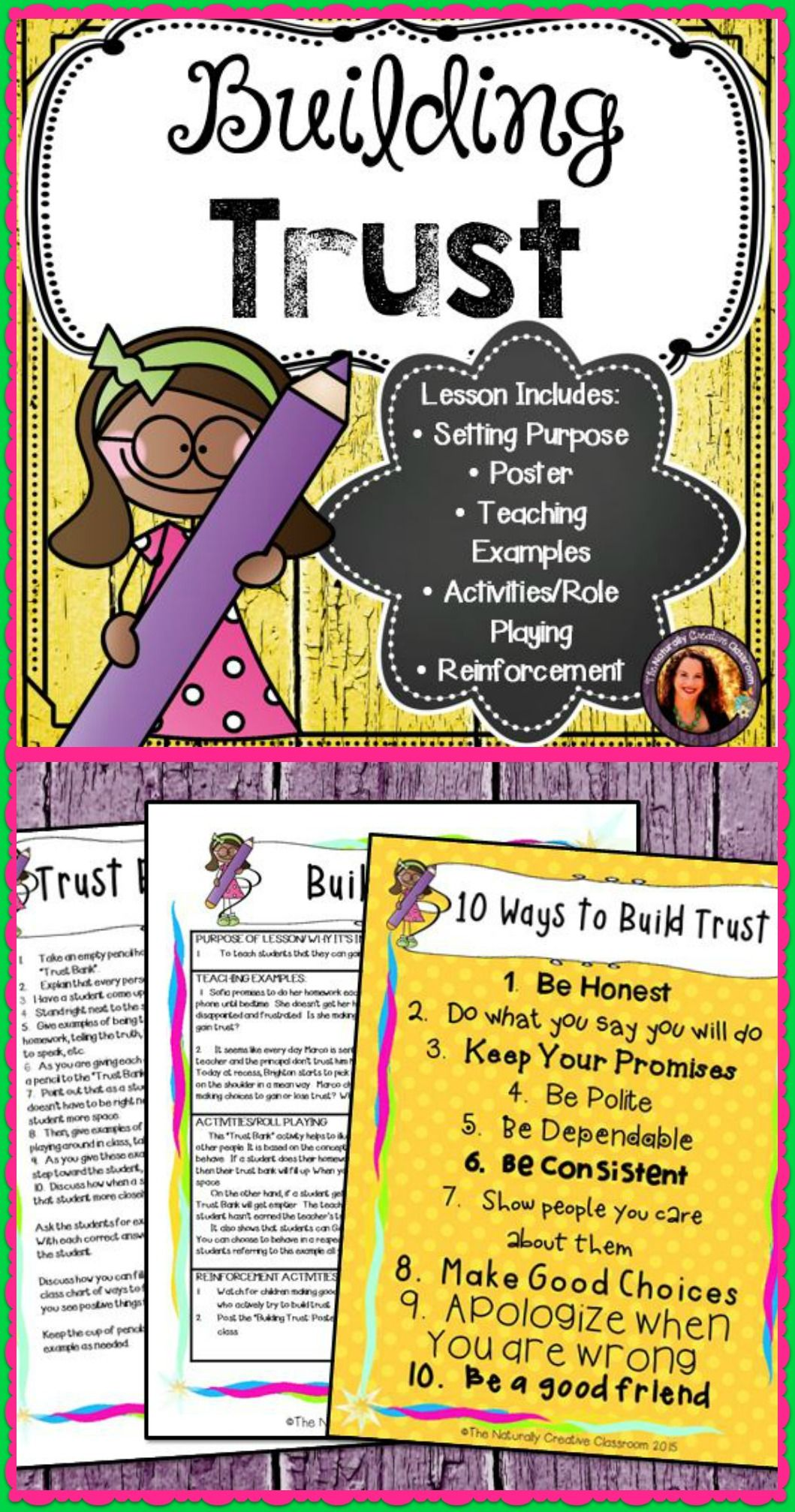 Everything You Do Helps To Gain Or Lose Trust With Others Use This Lesson Activity And Poster