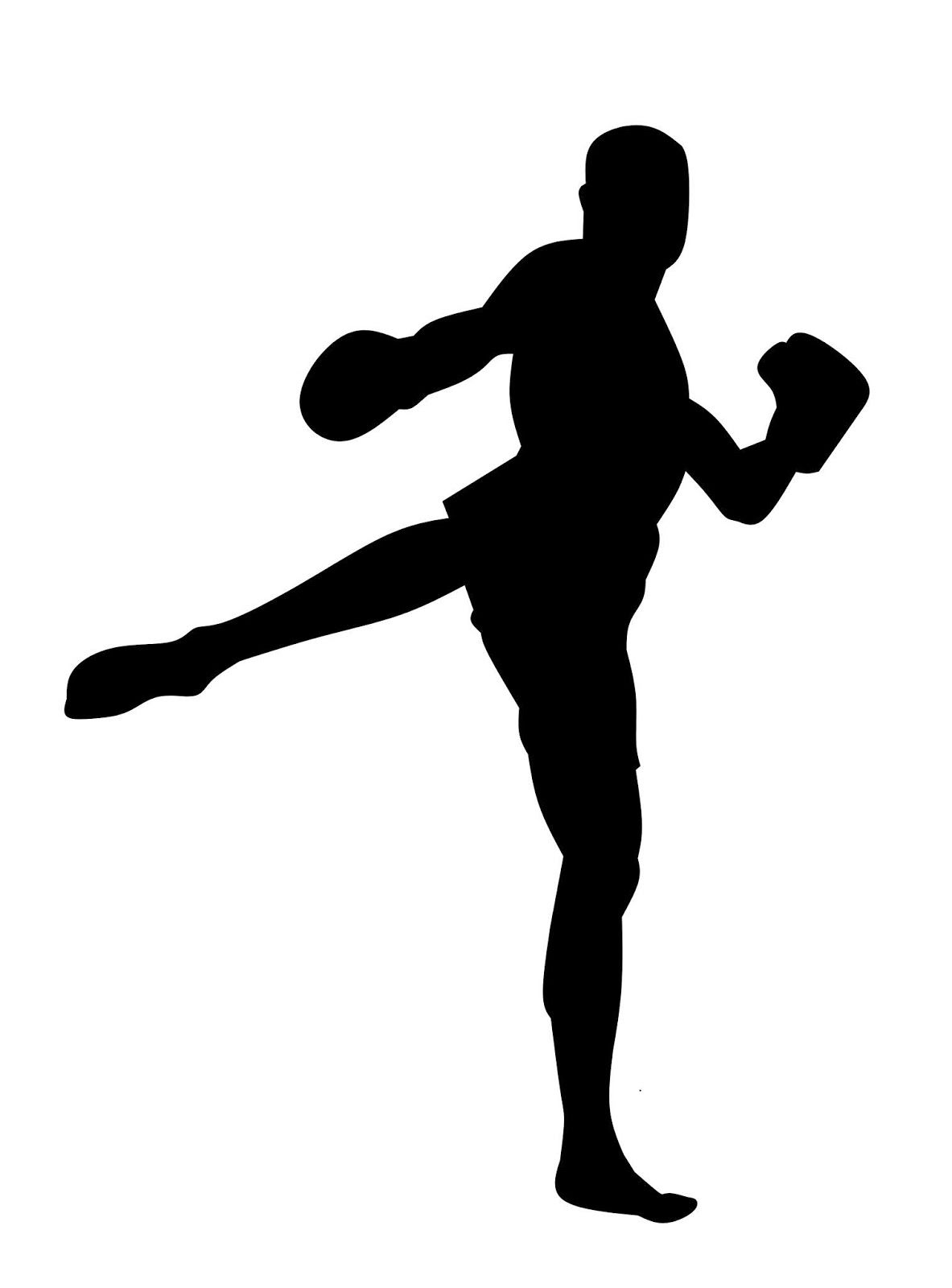 Boxing Boxer Man Silhouette Fighter Exercise Fighting Gloves Kickboxing Fight Power Strong Stand Design The Kickboxing Silhouette Silhouette Free