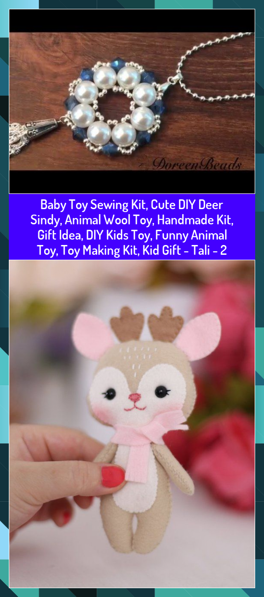 Baby Toy Sewing Kit Cute DIY Deer Sindy Animal Wool Toy Handmade Kit Gift Idea DIY Kids Toy Funny Animal Toy Toy Making Kit Kid Gift  Tali  2