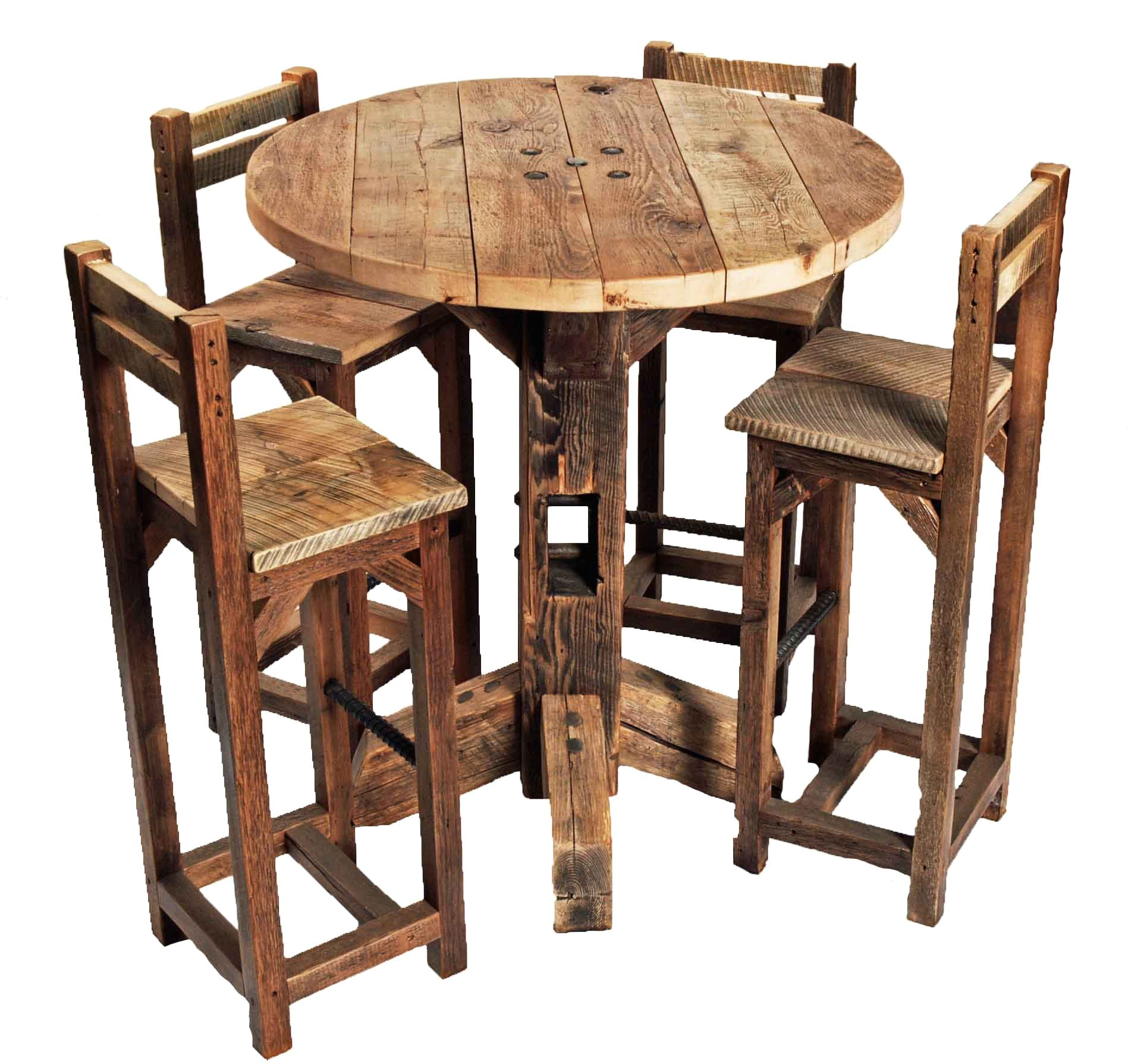 Furniture Old Rustic Small High Round Top Kitchen Table And Chair With Bar Tables Chairs On Categ Kitchen Table Settings Pub Table And Chairs Top Kitchen Table