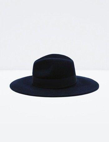 c77e66d01737e Sombrero negro de ala ancha - ZARA (19