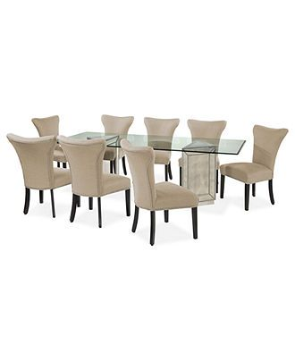 "Sophia Dining Room Furniture 9 Piece Set 96"" Table And 8 Side Brilliant Macys Dining Room Chairs Decorating Design"