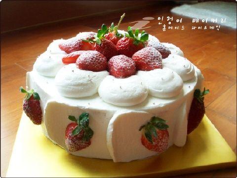 Fantastic Korean Strawberry Saeng Cream Cake Recipe With Images Cake Funny Birthday Cards Online Elaedamsfinfo