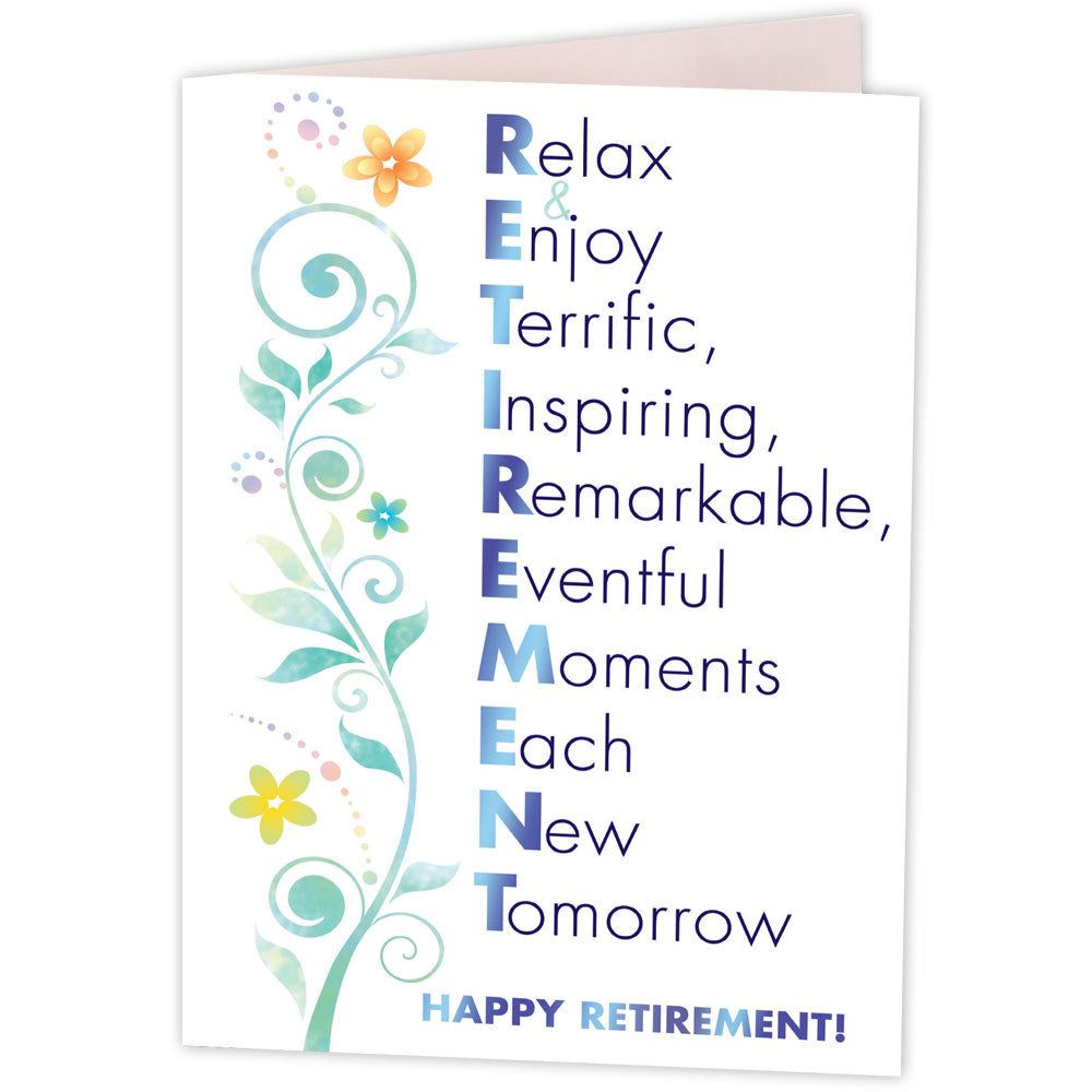 Happy retirement greeting card greeting cards retirement happy retirement greeting card m4hsunfo