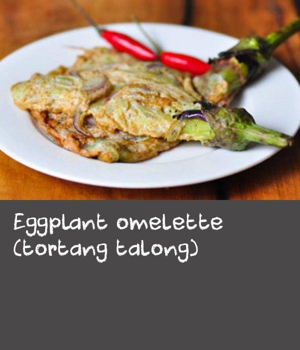 Eggplant Omelette Tortang Talong Recipe Meat Crab Recipes