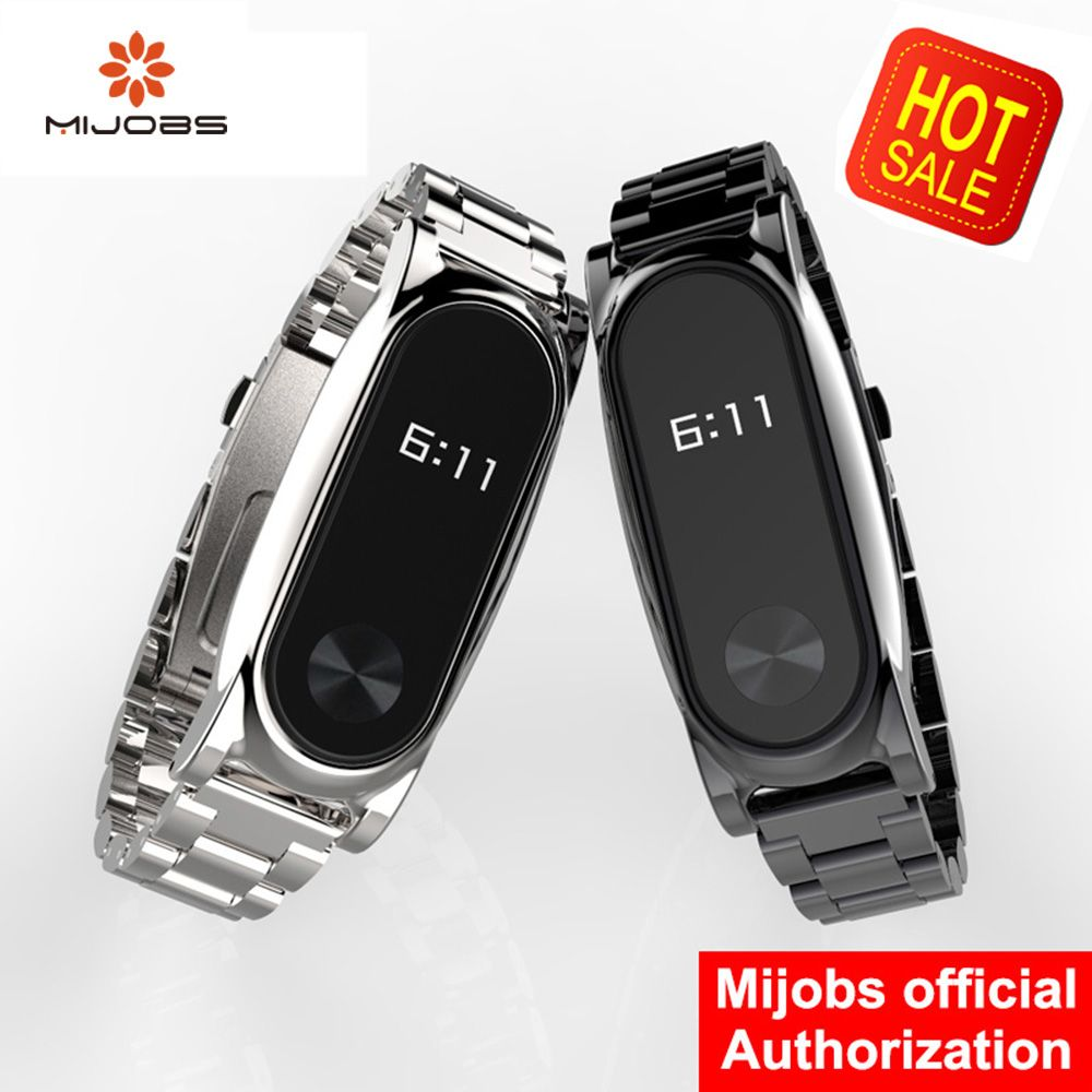 Mi Wriststraps Metal For Xiaomi Mi Band 2 Screwless Stainless Steel Wristband Bracelet Smart Band Replace For Mi Band Wearable Device Smart Bracelet Smart Band